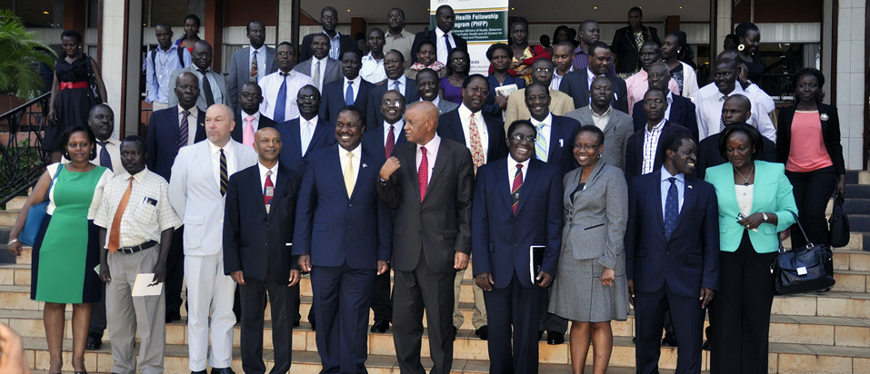 Group Photo outside Kampala Serena Hotel