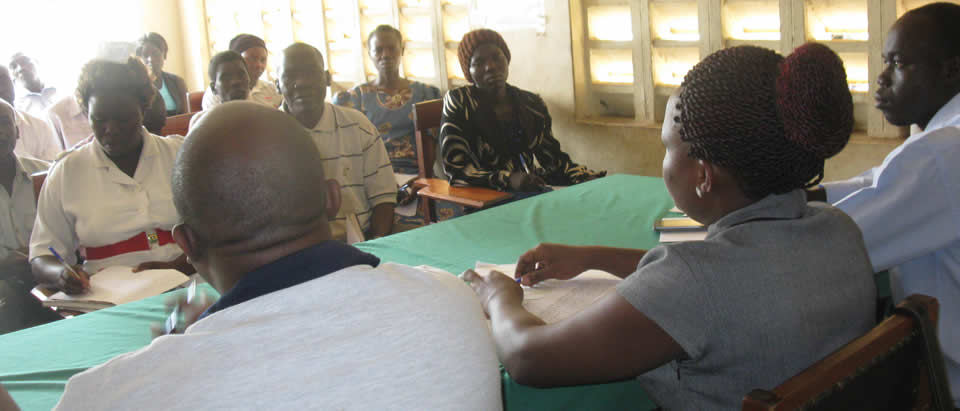 MakSPH-CDC fellowship team during a support supervision visit at Obongi Health Centre IV, Moyo district.